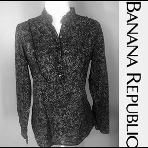 EUC-BANANA REPUBLIC batik print cotton blouse